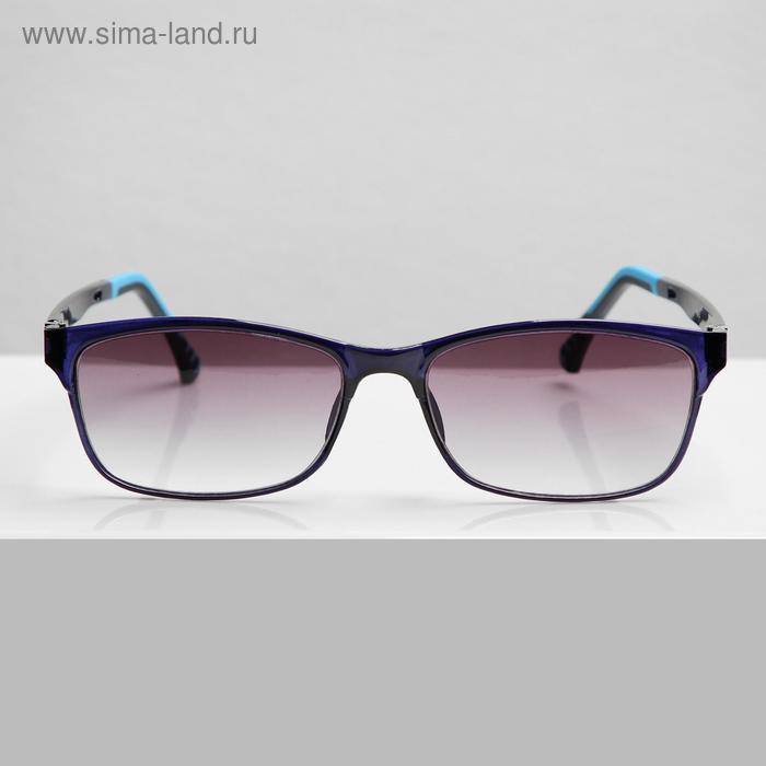 Очки корригирующие В8985, цвет синий, тонированные, -2 - фото 1