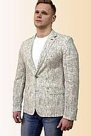 Мужская летняя льняная серая деловая большого размера пиджак DOMINION 4430D 8C34-P49 176 светло-серый 50р.