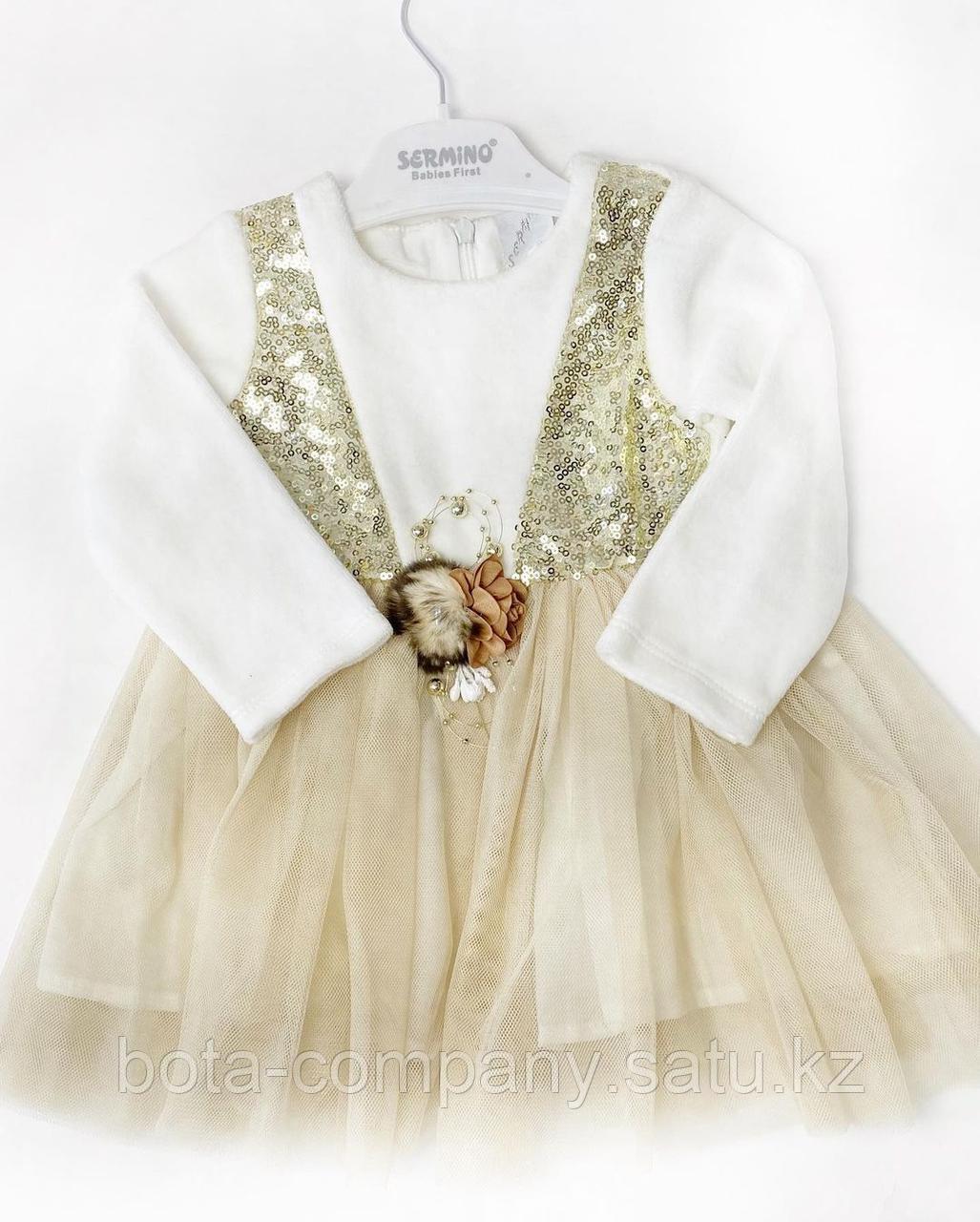 Платье для маленьких принцесс с кружевами