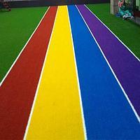 Цветной искусственный газон 2.5 см