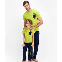 Пижама детская мальчик 4-5 лет / 104-110 см, Салатовый