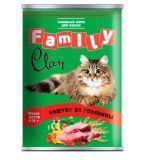 Clan Family 415г паштет из Говядины влажный корм для кошек