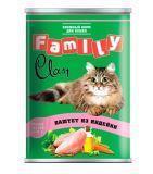 Clan Family 415г паштет из Индейки влажный корм для кошек