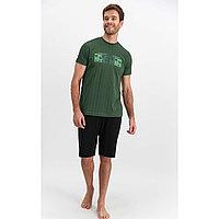 Пижама мужская S / 44-46, Зеленый
