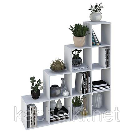 Стеллаж Polini Home Smart Каскадный 10 секций, белый