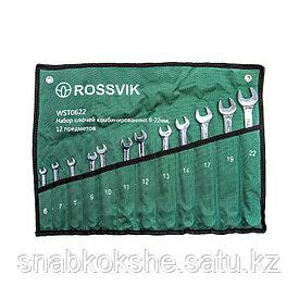 Набор ключей комбинированных ROSSVIK WST0622 6-22мм, 12шт
