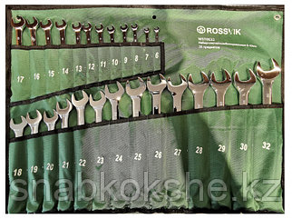 Набор ключей комбинированных ROSSVIK WST0632, 26шт