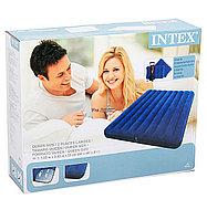 Матрас надувной двухместный Intex 68765 (203*152*25см) с подушками и насосом