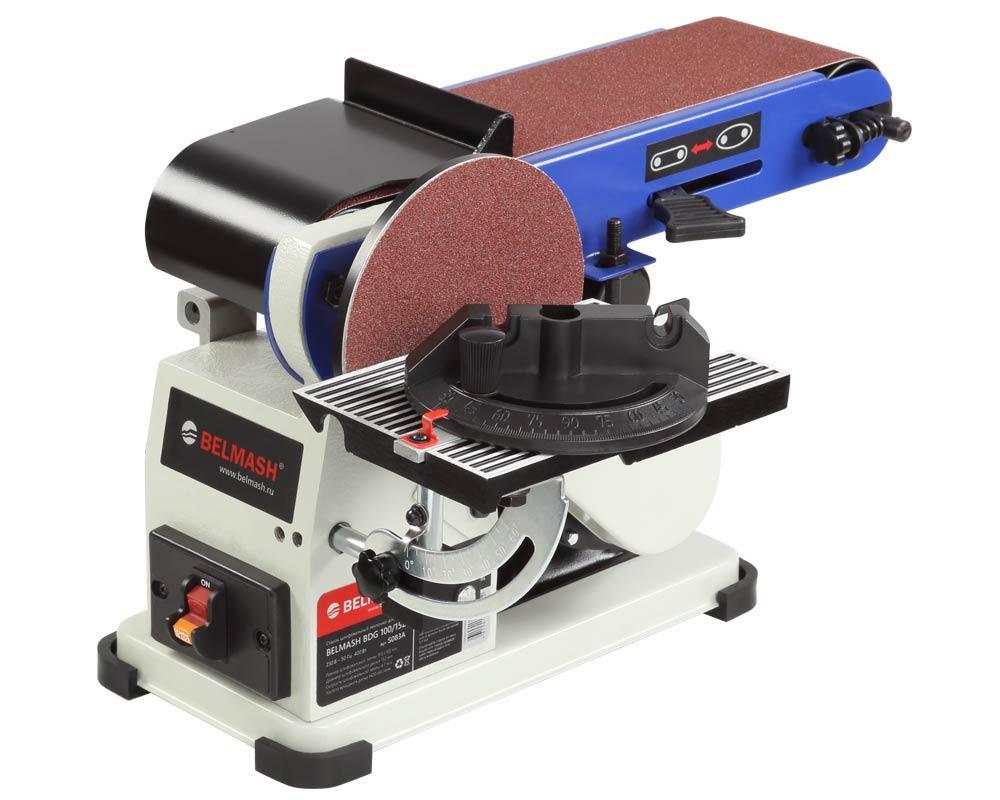 Ленточно-дисковый шлифовальный станок BELMASH BDG 100/152