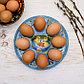 Стеклянная подставка на 8 яиц «Цыплята», фото 4