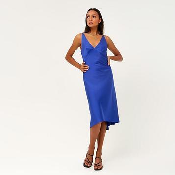 """Платье женское MINAKU """"Silk pleasure"""" цвет синий, р-р 46"""