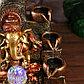 """Фонтан настольный от сети, подсветка """"Ганеша с чашами"""" красно-золотой 40х25х25 см, фото 6"""