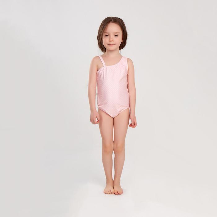 """Купальник слитный MINAKU в мелкий горошек""""Sunny Life"""",рост 92-98см(2),цвет розовый"""