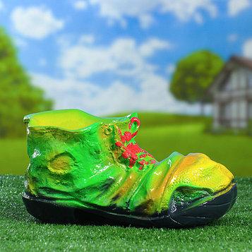 """Садовая фигура """"Ботинок"""", зелёная, 14 см"""