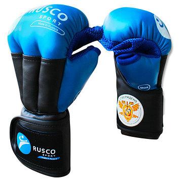 Перчатки RUSCO SPORT для рукопашного боя PRO, 8 унций, цвет синий