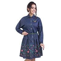 Платье женское, размер 46, цвет синий