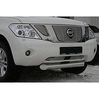 """Декоративные элементы решётки радиатора d10 (2 элемента) """"Nissan Patrol"""" 2010-2016, NPAT.96.2076 1"""
