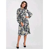 Платье женское, размер 52, цвет синий