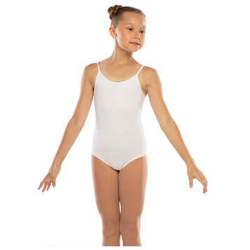 Костюм гимнастический х/б, цвет белый, размер 42