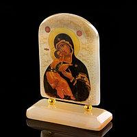 Икона «Владимирская», на подставке, селенит