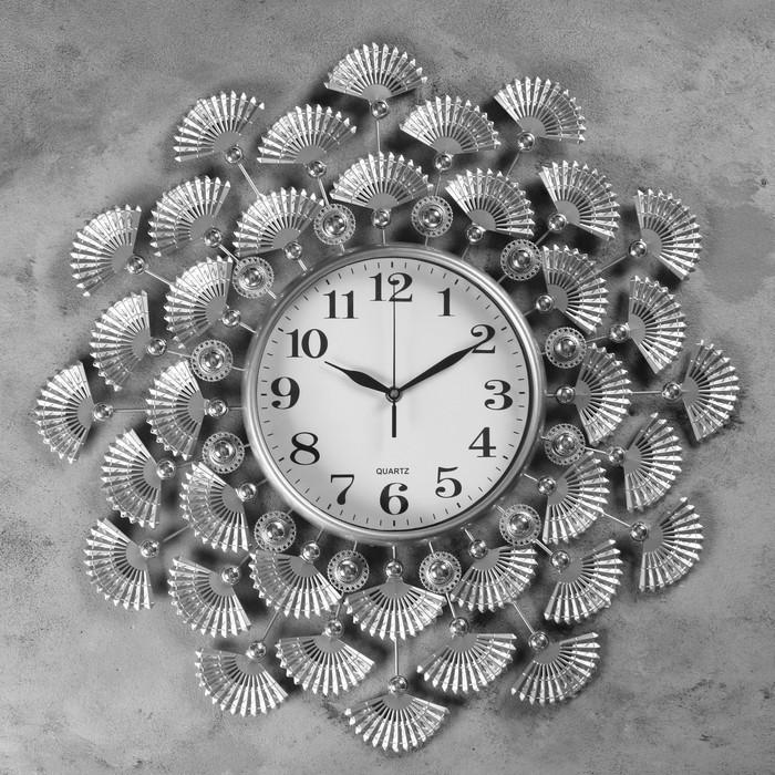 """Часы настенные, серия: Ажур, """"Петралия""""  d=60 см, d=25 см, 1 АА, плавный ход"""