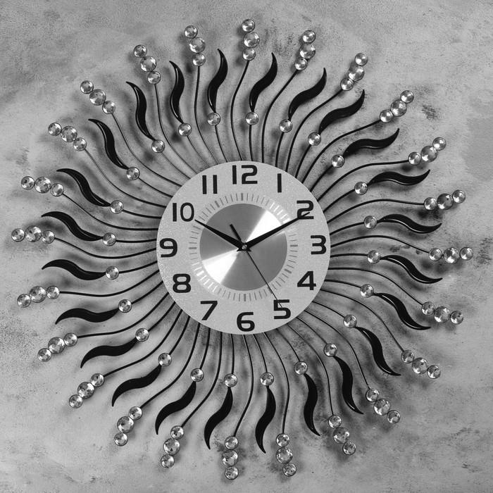 """Часы настенные, серия: Ажур, """"Остроруг""""  d=60 см, d=22 см, 1 АА, плавный ход"""