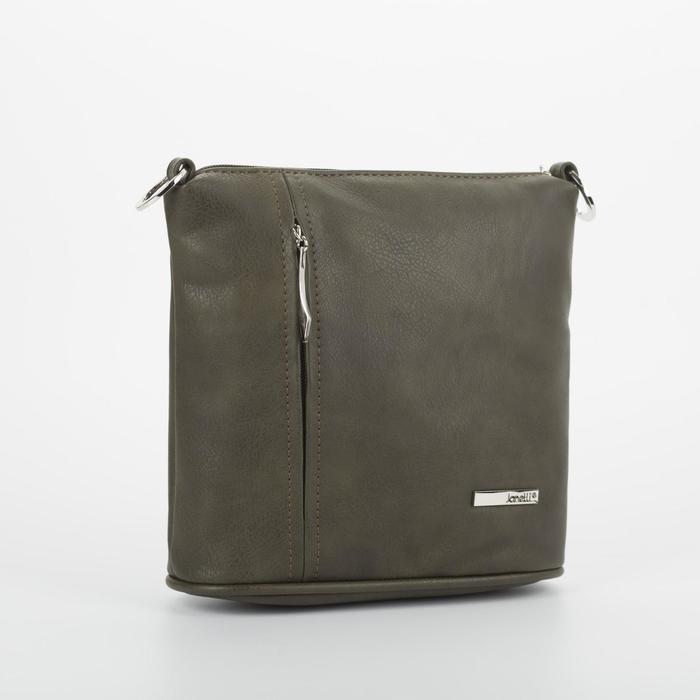 Кросс-боди, отдел на молнии, наружный карман, цвет хаки