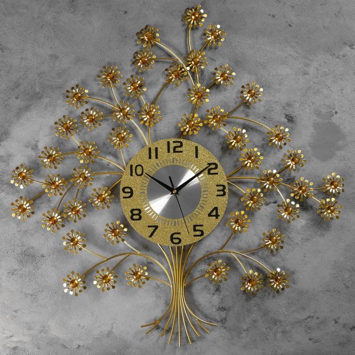 """Часы настенные, серия: Ажур, """"Ньор"""" 60х60 см, d=22 см, 1 АА, плавный ход"""