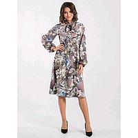 Платье женское, размер 44, цвет светло-коричневый