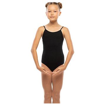 Костюм гимнастический х/б, цвет чёрный, размер 26