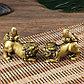 """Нэцке полистоун """"Кирины - преклонение"""" под бронзу набор 2 шт 8,9х4,6х9,5 см, фото 4"""