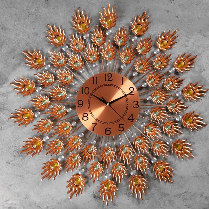 """Часы настенные, серия: Ажур, """"Витторе""""  d=70 см, d=22 см, 1 АА, плавный ход"""