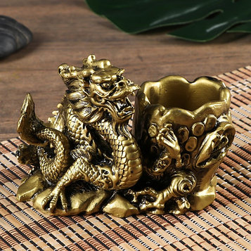 "Нэцке полистоун подставка ""Китайский дракон"" под бронзу 11х8х14,5 см"
