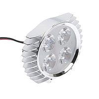 Фара cветодиодная для мототехники, 4 LED, IP65, 4 Вт, направленный свет