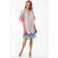 Платье женское, размер 50, цвет бежевый