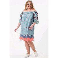 Платье женское, размер 52, цвет белый