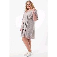 Платье женское, размер 60, цвет серый, бежевый