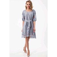 Платье женское, размер 44, цвет серый, голубой