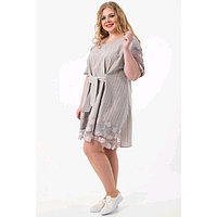 Платье женское, размер 54, цвет серый, бежевый