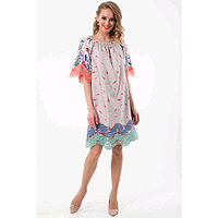 Платье женское, размер 44, цвет бежевый