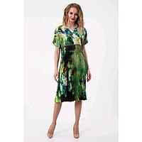 Платье женское, размер 48, цвет зелёный