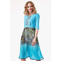 Платье женское, размер 44, цвет голубой