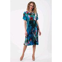 Платье женское, размер 48, цвет синий