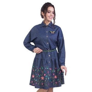 Платье женское, размер 44, цвет синий
