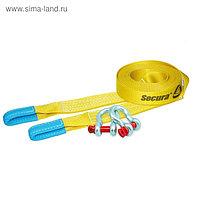 """Динамический строп, рывковый, 22 т, 9 м, серия PRO """"Secura"""" + шаклы 4.75 т, 2 шт"""