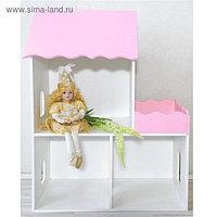 Кукольный домик «Домик», розовый, размеры: 60 × 30 × 80 см