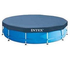 Тент предназначен для каркасных бассейнов INTEX диаметром 366 см