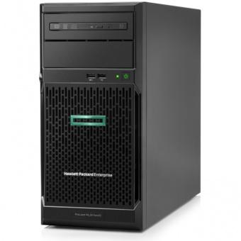 Сервер HP Enterprise/ML30 Gen10/1/Xeon/E-2224 (4C/4T 8Mb)/3,4 GHz/1x16Gb/S100i/0,1,5,10/SATA only/4LFF/2x1GbE/