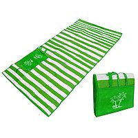 Пляжный коврик сумка складной Пальмы 120 на 170 см зеленый