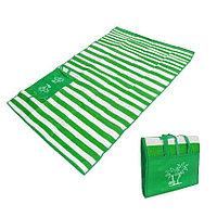Пляжный коврик сумка складной Пальмы 150 на 170 см зеленый